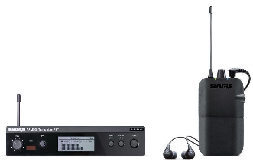 SHURE/ステレオパーソナルモニターシステム PSM300/P3TR112GR ワイヤレスモニター【シュアー】