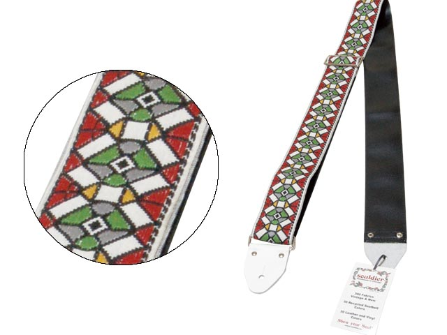 Souldier Ace Replica Straps/ギターストラップ Stained Glass RD【タグ白×裏地黒】【ソルジャー】