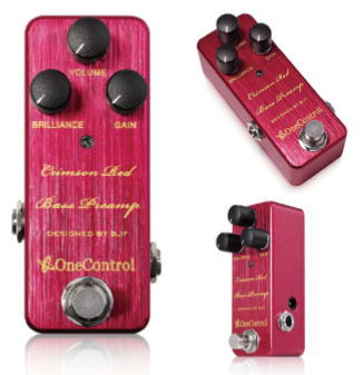 One Control/Crimson Red Bass Preamp クリムゾンレッド ベース用プリアンプ【ワンコントロール】