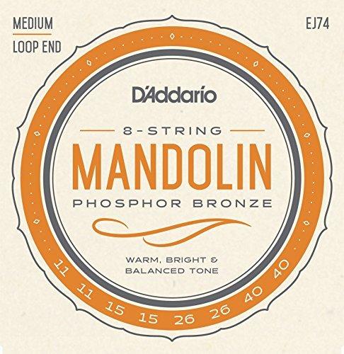 D'addario マンドリン弦 EJ74 Mandolin 爆買いセール Meduim Bronze メール便OK ダダリオ 信用 Phospor