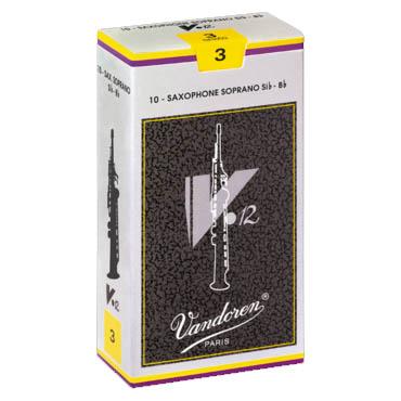 日本最大級の品揃え Vandoren ソプラノサックスリード 春の新作続々 V12 10枚入 バンドレン バンドーレン 銀箱