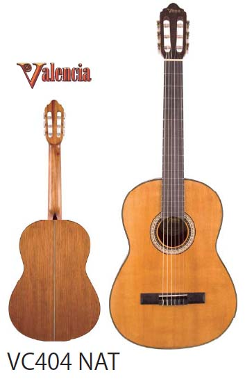 Valencia クラシックギター VC404 NAT 【バレンシア】