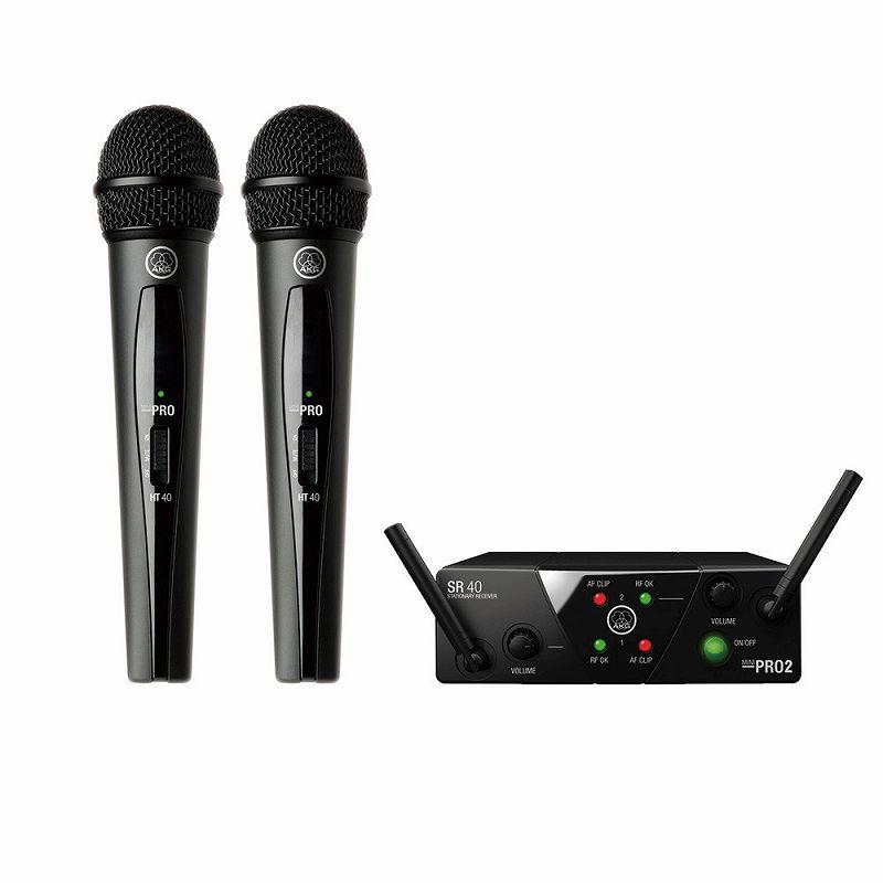 AKG/ワイヤレスシステム WMS40 MINI2 VOCAL DUAL ワイヤレスマイク PRO SET