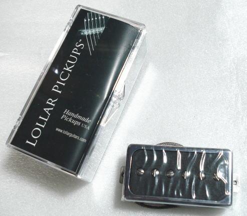 Lollar Pickups/Guitar PU Single-HB Chrome Ring Bridge/Mt.BK【ローラーピックアップ】