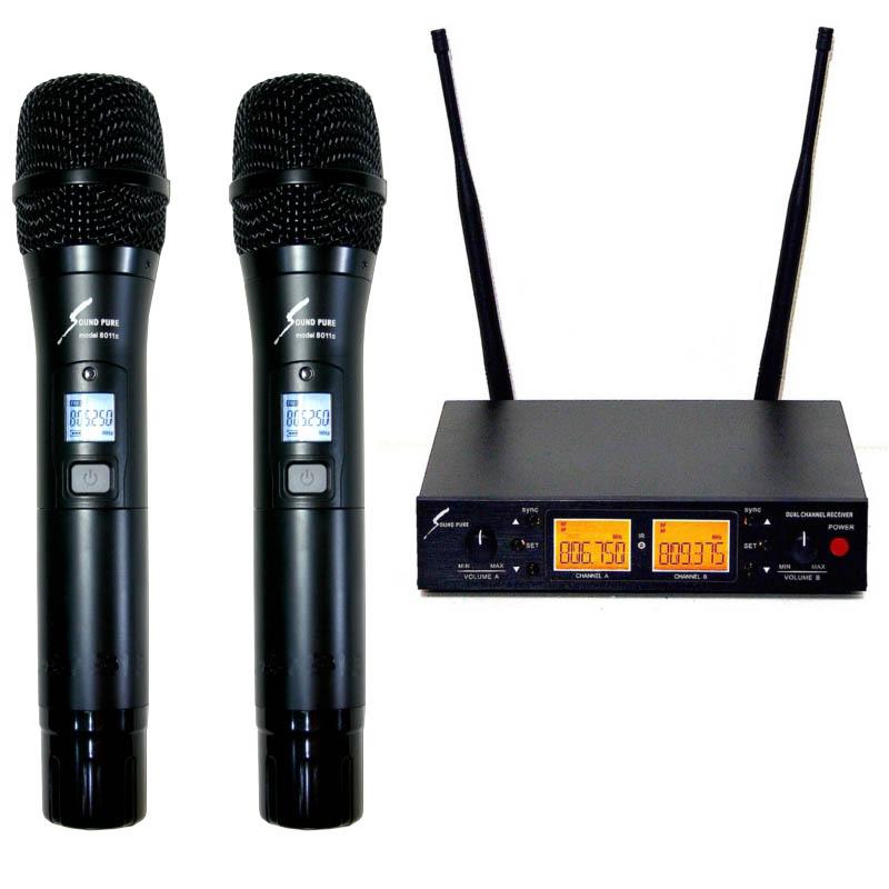 sound pure SPH80112-VDUAL ハーフラック 8011 IIワイヤレスハンドマイク2本セット【サウンドピュア】