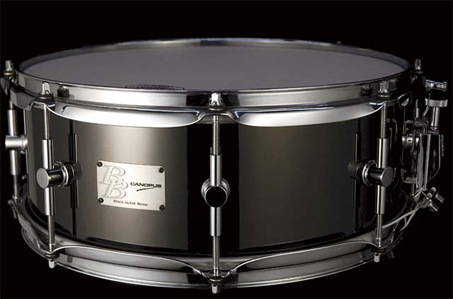CANOPUS/スネア BB-1455 Black-Nickel Brass Snare Drum【カノウプス】