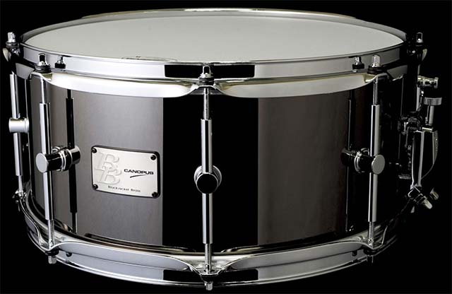 CANOPUS/スネア BB-1465 Black-Nickel Brass Snare Drum【カノウプス】