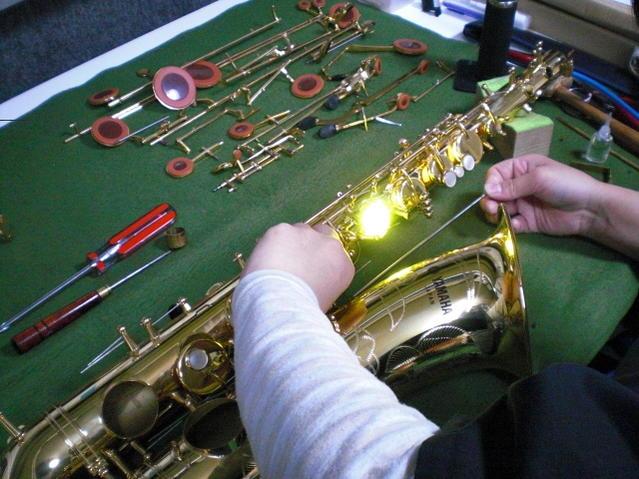 YAMAHA製品限定/テナーサックス全タンポ交換(管楽器修理)【離島不可】【ヤマハ】