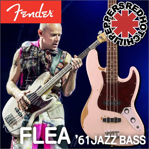Fender/Flea Jazz Bass Rosewood Fingerboard, Roadworn Shell Pink【フェンダー】
