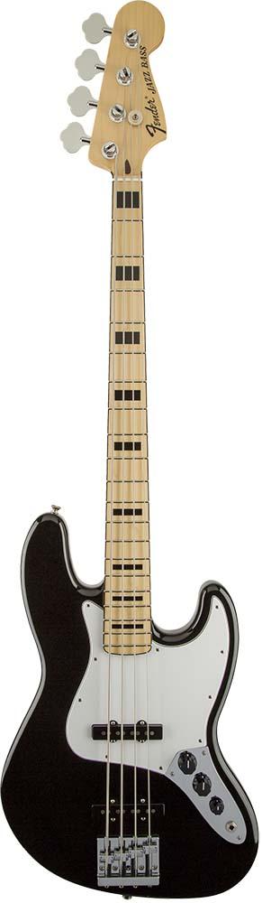 Fender/Geddy Lee Jazz Bass®, Maple Fingerboard, Black【フェンダー】