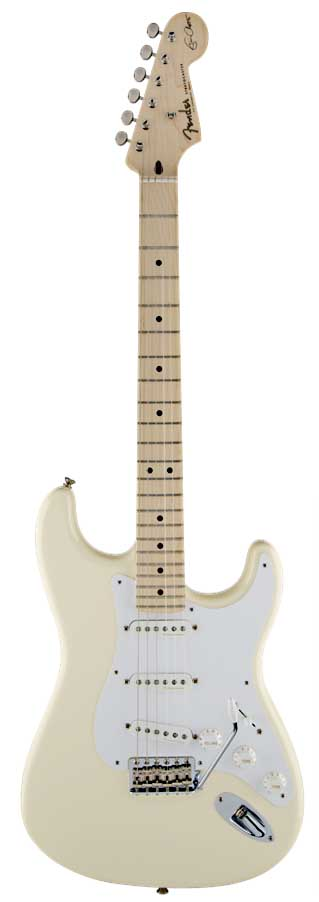 Fender/Eric Clapton Stratocaster®, Maple Fingerboard, Olympic White【フェンダー】