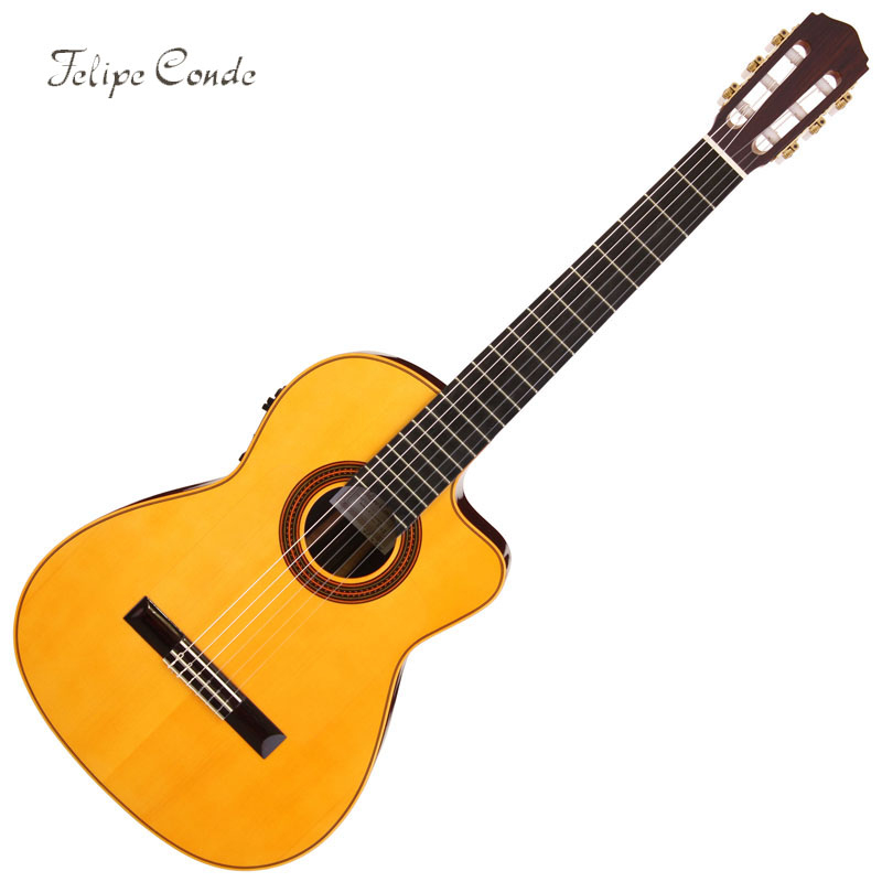 トミカチョウ Felipe Conde/Flamenco Guitar SPAIN】 フラメンコギター Felipe Conde/Flamenco FP14NCW Electric Model【フェリペ・コンデ・Made in SPAIN】, iQlabo:99c6c39f --- uptic.ps