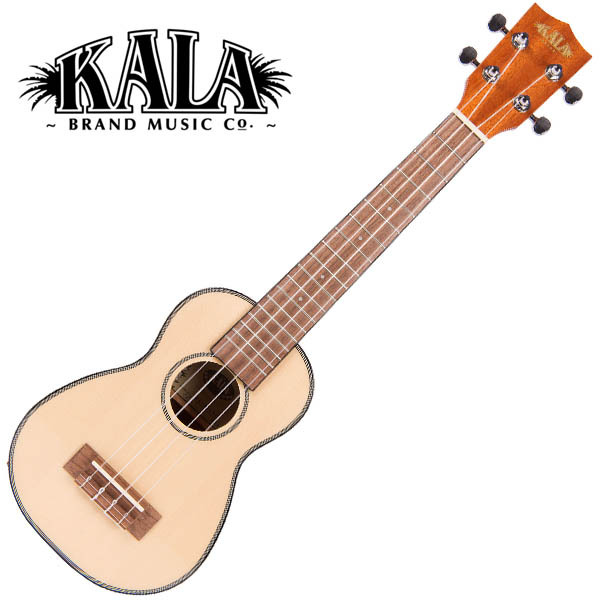 KALA KA-SSLNG Solid Spruce Top Gloss Soprano Long Neck Ukulele w/bag ソプラノロングネックウクレレ【カラ】