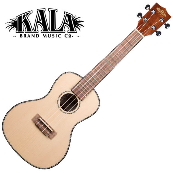 KALA KA-SCG Solid Spruce Top Gloss Concert Ukulele w/bag コンサートウクレレ【カラ】