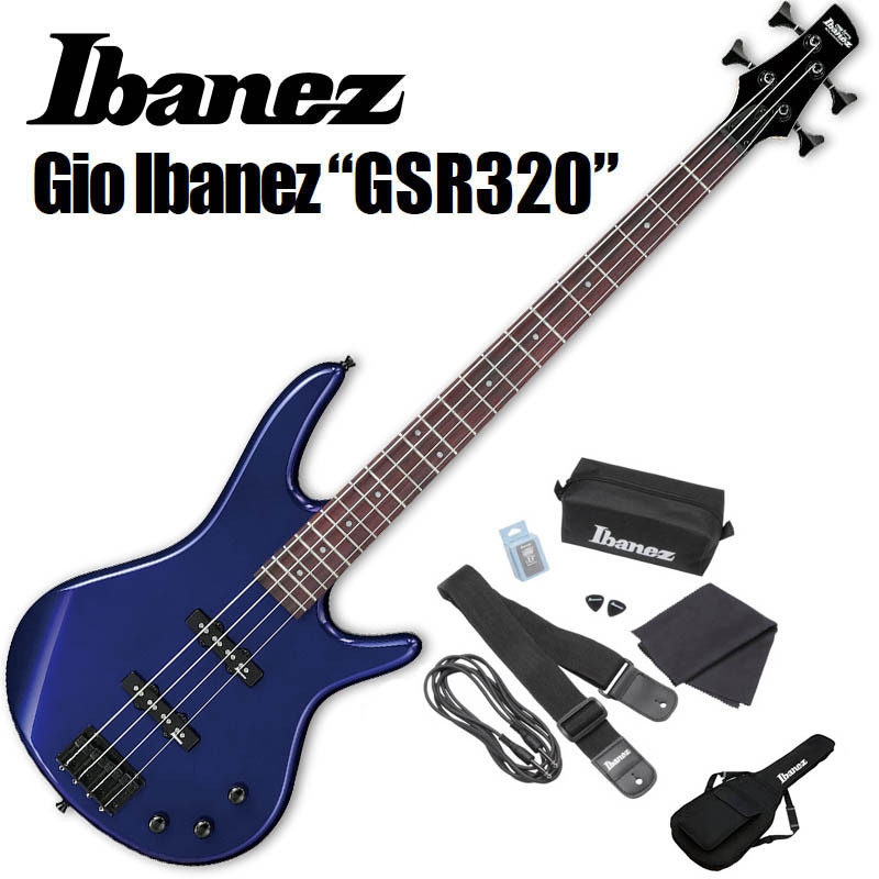 Ibanez/エレキベースセット GSR320-JB 初心者セット【アイバニーズ】