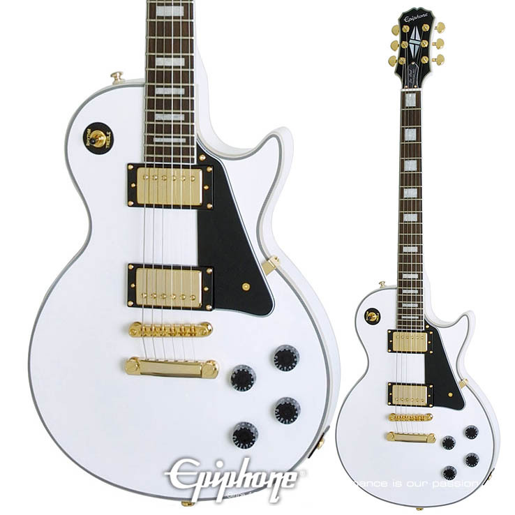 Epiphone Les Paul Custom PRO AW Alpine White【エピフォン】【正規輸入品】