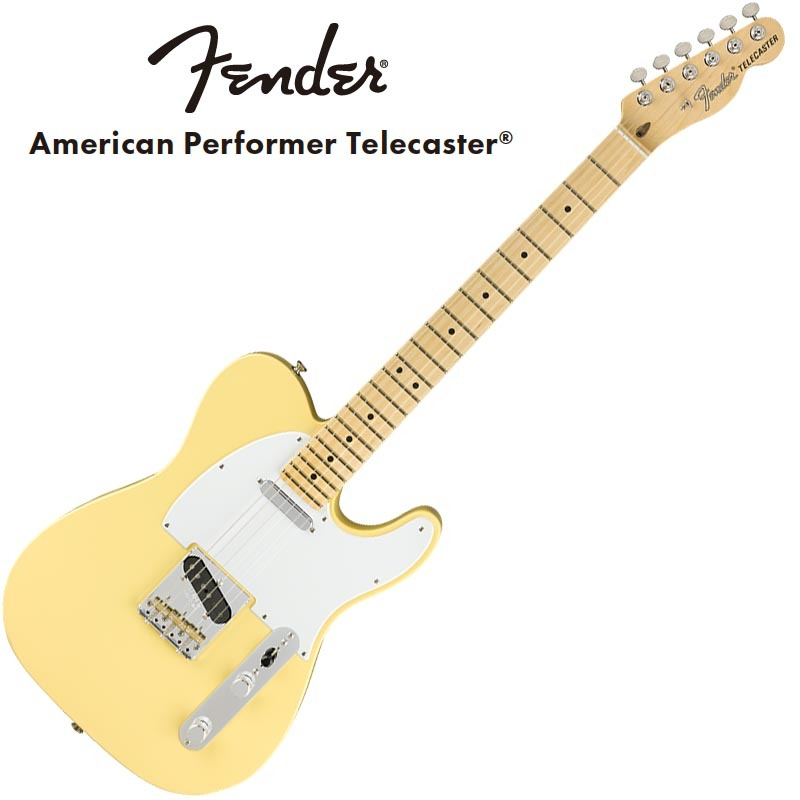Fender American Performer Telecaster Maple Fingerboard Vintage White【フェンダーUSAテレキャスター】