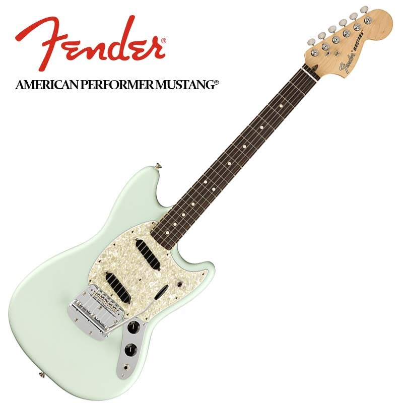 Fender American Performer Mustang Satin Sonic Blue【フェンダーUSAムスタング】