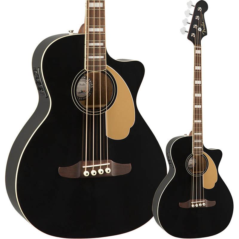 Fender Kingman Bass, Walnut Fingerboard, Black【フェンダーエレアコベース】
