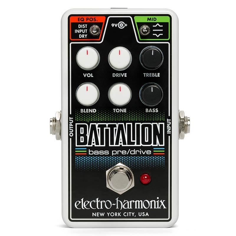 Electro ベースプリアンプ・オーバードライブ【エレクトロハーモニクス】 Harmonix Battalion Nano