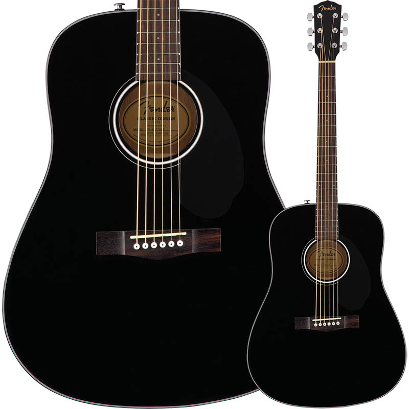 Fender CD-60S Dreadnought Walnut Fingerboard Black【フェンダーアコースティック・ギター】