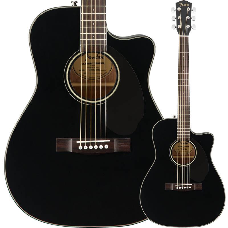 Fender/エレアコ CC-60SCE Concert, Walnut Fingerboard, Black【フェンダー】