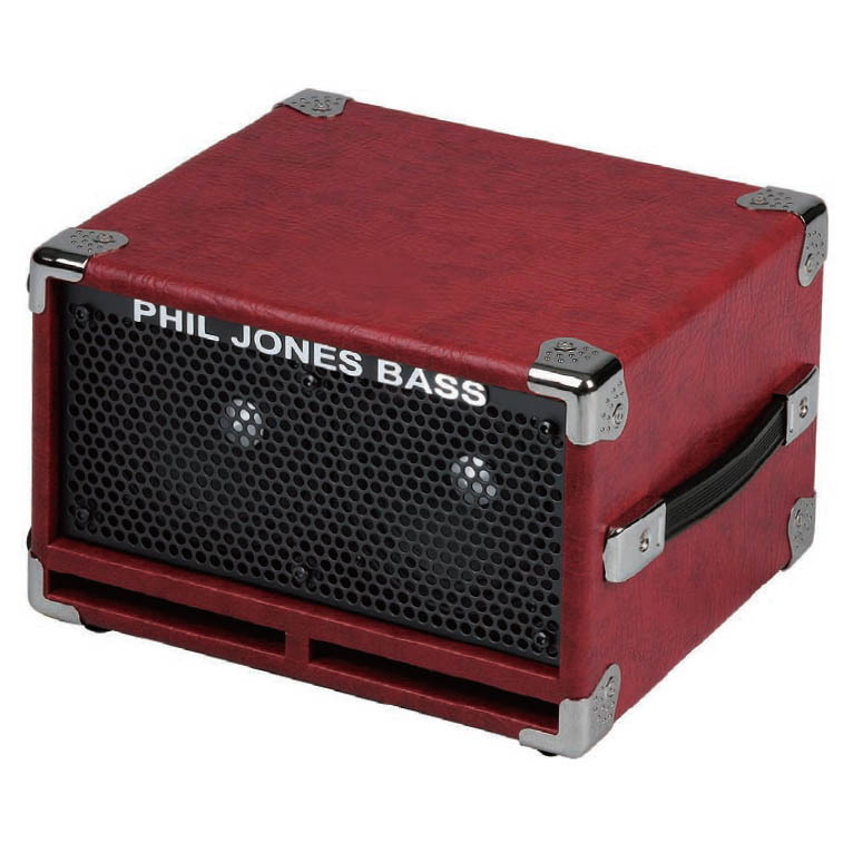 "Phil Jones Bass BC-2 Red 2x5""超小型キャビネット【フィルジョーンズ】"