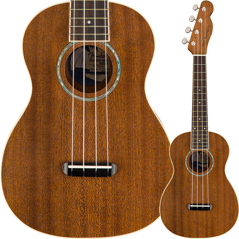 Fender/ウクレレ Zuma Concert Ukulele Walnut Fingerboard Natural コンサートサイズ 【フェンダー】