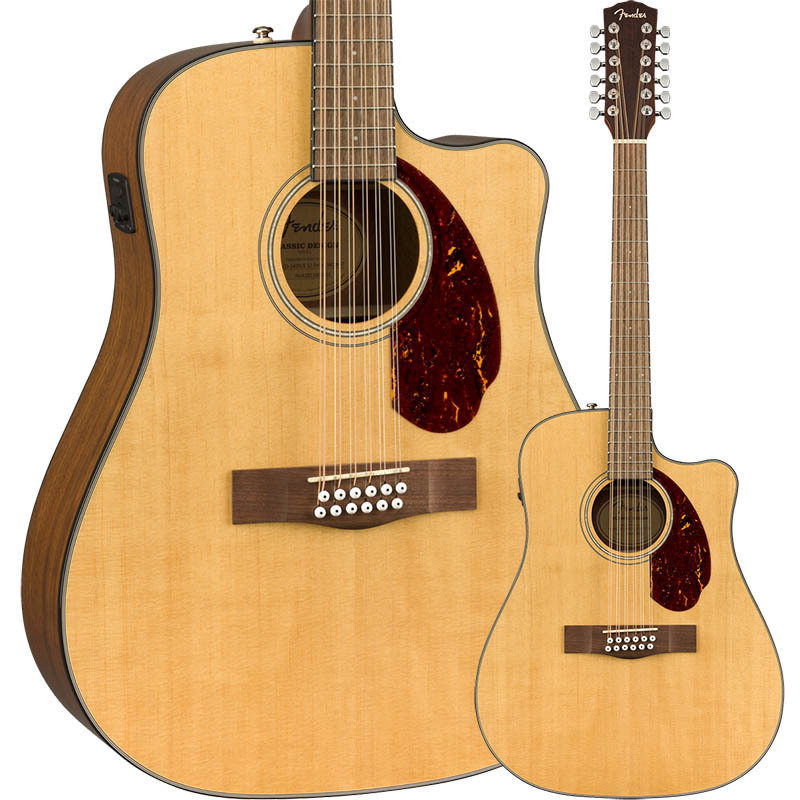Fender CD-140SCE Natural Walnut 12-String Walnut Fingerboard Natural w/Case Fingerboard【フェンダー12弦エレアコ】, ロクノヘマチ:474e723c --- ww.thecollagist.com