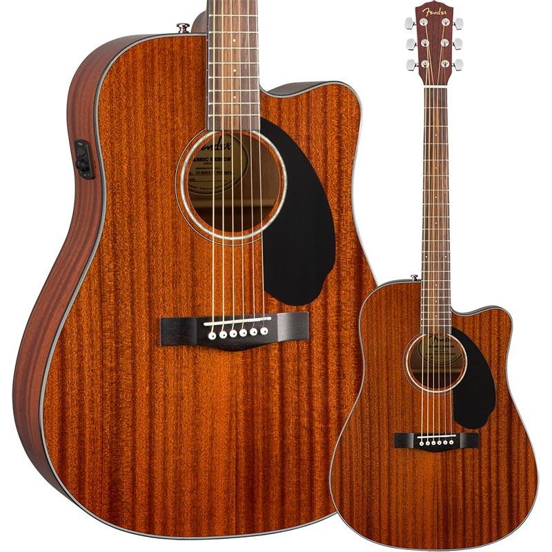 Fender CD-60SCE Dreadnought Walnut Fingerboard All-Mahogany【フェンダーエレアコ】