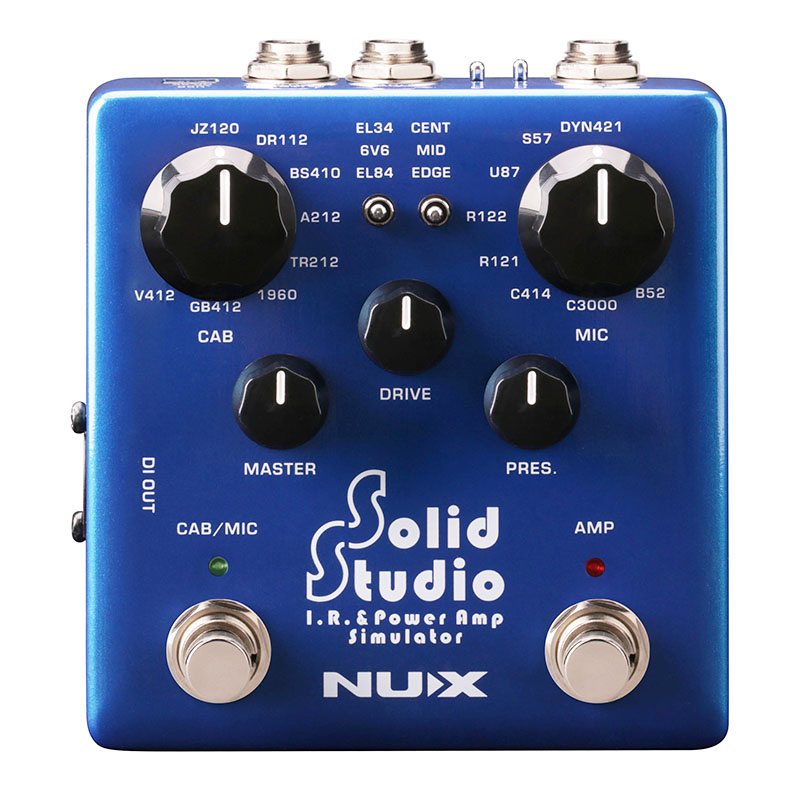 NUX Solid Studio IR & パワーアンプシミュレーター【ニューエックス】