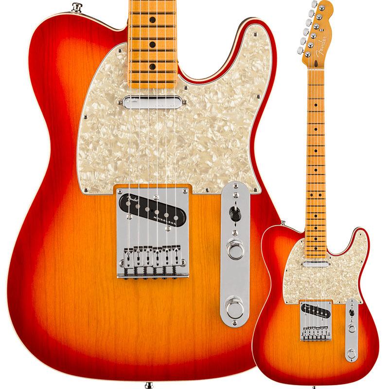 Fender American Ultra Telecaster, Maple Fingerboard, Plasma Red Burst【フェンダーUSAテレキャスター】
