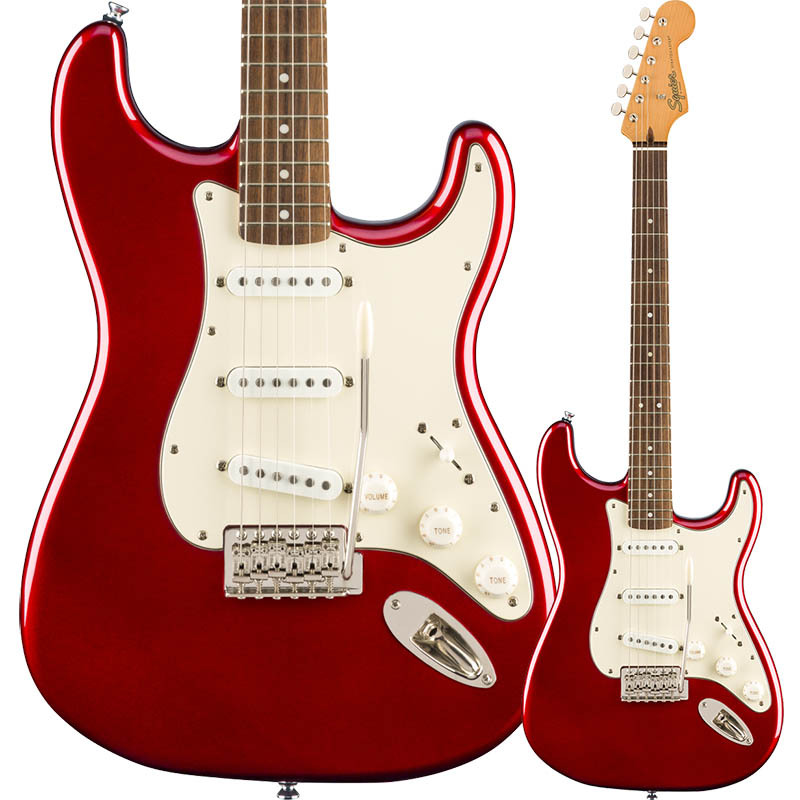 Squier by Fender Classic Vibe '60s Stratocaster, Laurel Fingerboard, Candy Apple Red【スクワイア フェンダーストラトキャスター】