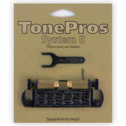 TonePros AVT2G-B ブラック Wraparound Bridge ギター用ブリッジ【トーンプロズ】