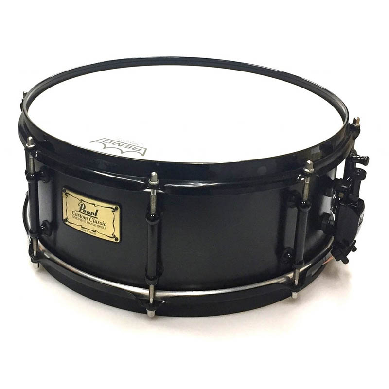 Pearl Custom Classic Snare Drum Limited Solid Black CL1455ST/B #384 【パールスネア限定品】