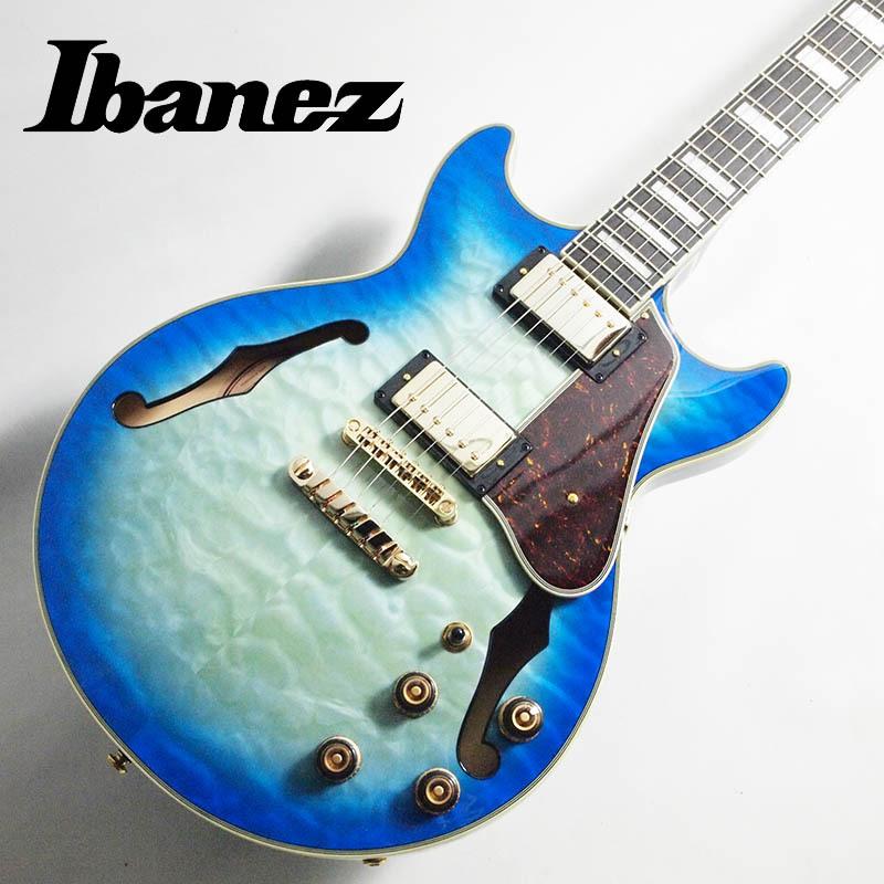 Ibanez/Artcore Expressionist セミアコ AM93QM-JBB (Jet Blue Burst)【アイバニーズ】