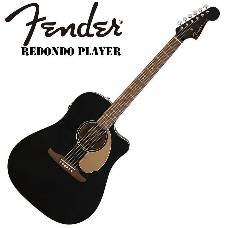 Fender/エレアコ Redondo Player Jetty Black【フェンダー】【正規輸入品】