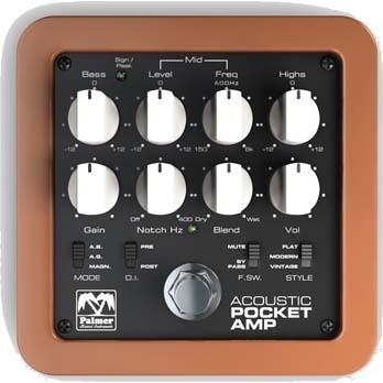 Palmer POCKET Amp Acoustic アコースティック・弦楽器用ペダル/プリアンプ/DI【パーマー】