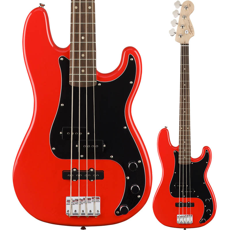 Squier by Fender Affinity Series Precision Bass PJ Race Red【スクワイア フェンダー】