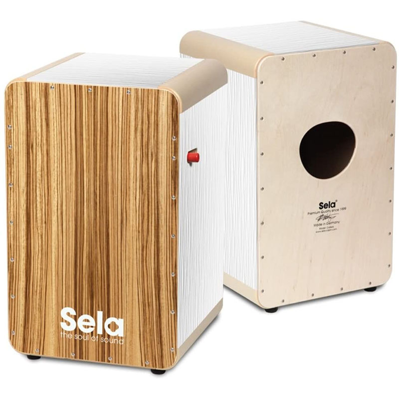 3 980円以上は送料無料 SALE 一部地域を除く Sela カホン Wave Pro in White Zebrano 通信販売 Germany セラ Made