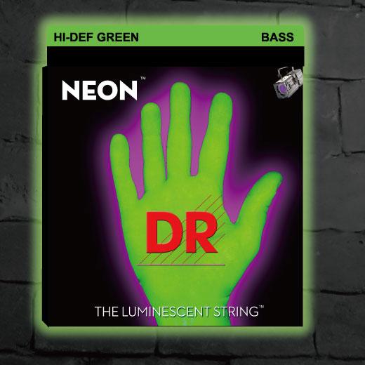 【メール便可】DR Strings DR弦 ベース弦 NGB-45 グリーン ネオン コーテッド MEDIUMゲージ