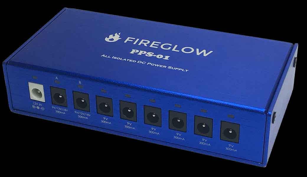 FIREGLOW パワーサプライ PPS-01 オールアイソレーテッド ペダル電源供給ユニット