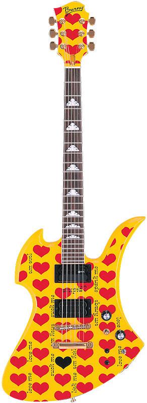 BURNY ギター MG-145S HY hideモデル