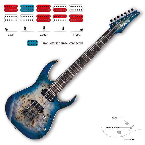 Ibanez アイバニーズ エレキギター RG1027PBF-CBB 7弦ギター