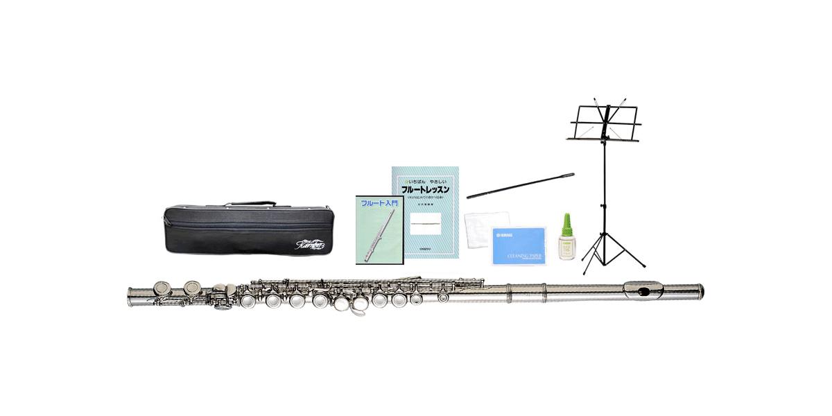 Kaerntner 新品 ( ケルントナー ) ) KFL-25 ( フルート 新品 Eメカニズム付き C管 管楽器 カバードキイ 頭部管 主管 足部管 本体 練習用 ニッケルメッキ【 KFL25 セット C】 送料無料, フクエソン:50ec7237 --- sunward.msk.ru