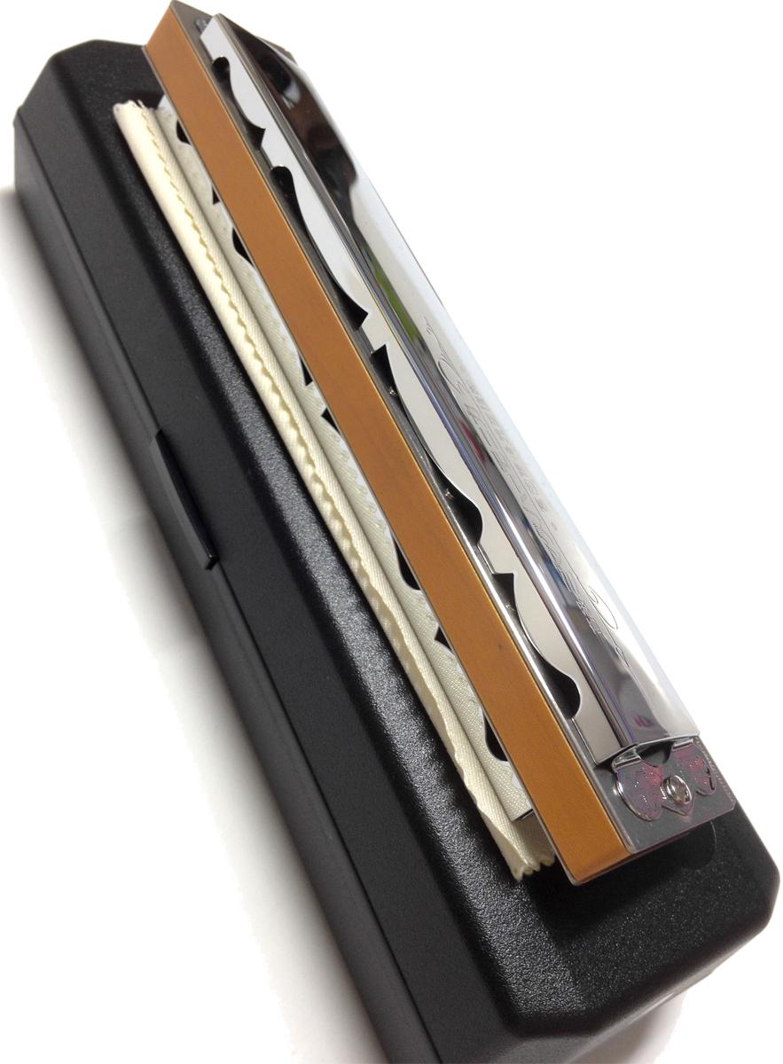 重复的口琴豪华 Miyata MH 21 铃木木制身体 21 孔 Miyata Toho 例说监督 C 的基调其他 Miyata 口琴双簧片复音口琴铃木 MH21 复音口琴取得在日本竖琴簧片乐器枫身体口琴