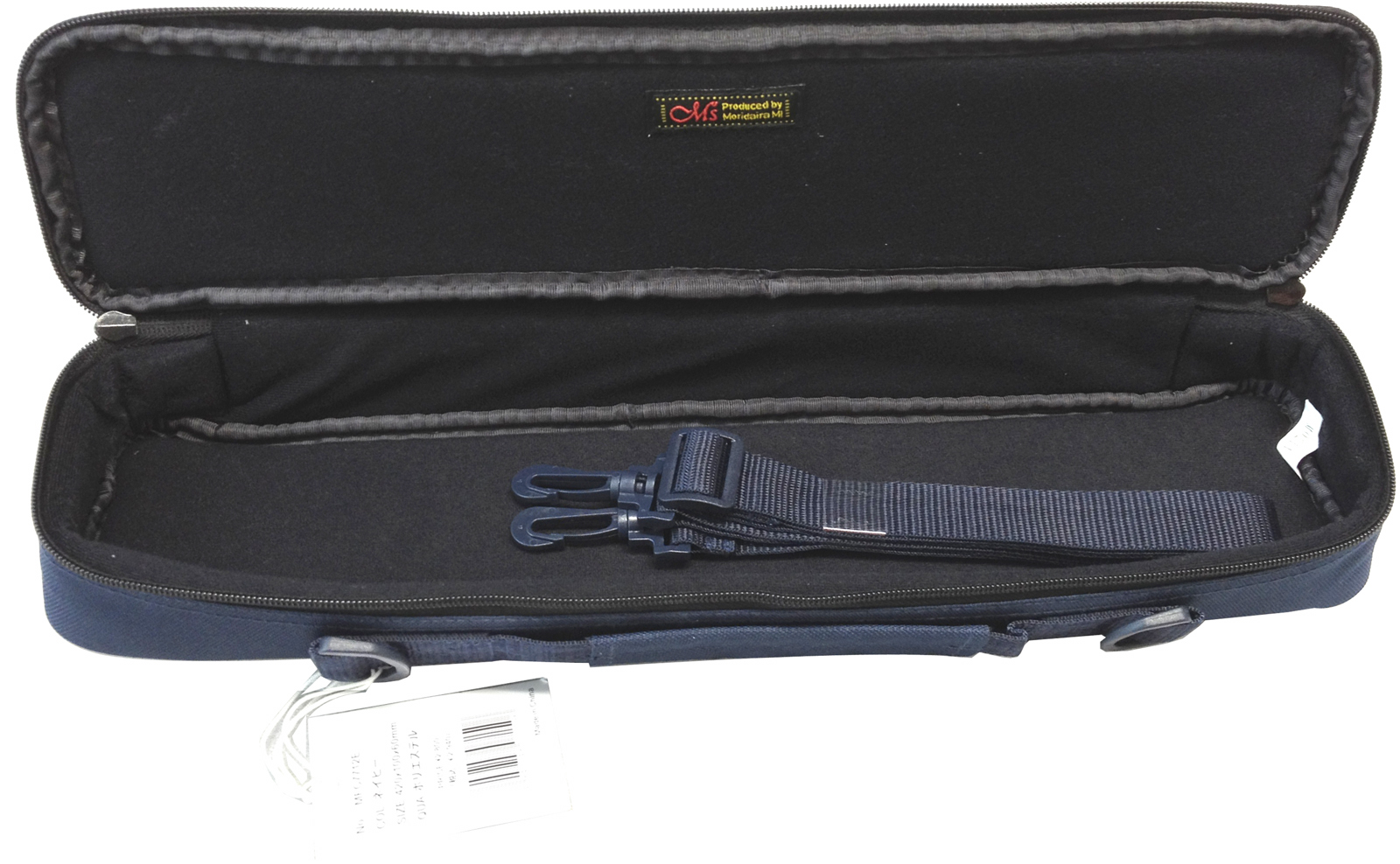 在瑕疵M's长笛箱盖MFC7712时尚的长笛箱盖包肩膀安排标准C管Ms M木管乐器情况礼物箱盖长笛收藏彩色黑色黑/海军蓝/灰色/布朗