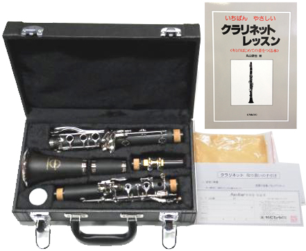 クラリネット 教本付き 初心者セット CL-40 新品 樹脂製 素材で お手入れ簡単 マックストーン 楽器 本体 マウスピース ケース付き MAXTONE CL40 clarinet スタンダード B♭クラリネット Bクラ 吹奏楽 ブラスバンド 練習用 音楽 趣味 おすすめ