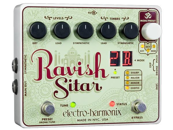 Electro Harmonix ( エレクトロハーモニクス ) Ravish Sitar 【ラヴィッシュ シタール WO 】【EH6000】 ◆ コンパクトエフェクター シタールエフェクト