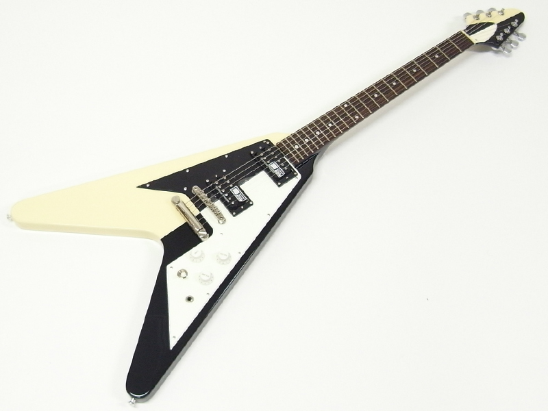 今だ衰えない人気の一本デス EDWARDS ( エドワーズ ) E-FV-125WB.DOT 【 日本製 フライングV ギター 】